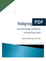 Finding Forgiveness