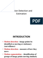 3. Motion Detection And