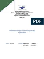 Modelo de Transporte en Investigación de Operaciones