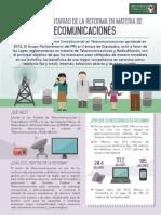 09-07-14 Leyes reglamentarias de la Reforma en materia de Telecomunicaicones