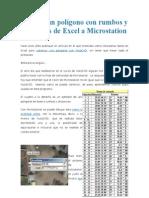 Dibujar Un Polígono Con Rumbos y Distancias de Excel a Microstation