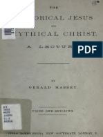 The Historical Jesus and Mythical Christ-A Lecture-Gerald Massey