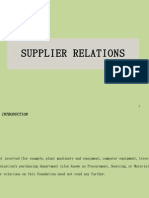 Sec 21  Supplier Relations