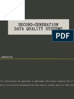 Sec 34 Second Generation Data Quality Systems