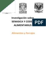 Investigacion Senasica y Codex Alimentarius