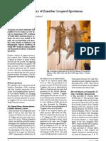 Updating the Inventory of Zanzibar Leopard Specimens