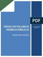 Indice Palabras Hebreas 1986 a Julio 2012