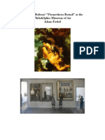 "Notes on Rubens' ""Prometheus Bound"" at the Philadelphia Museum of Art"
