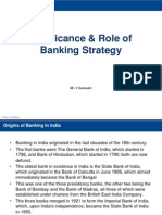Significance & Role of Banking Strategy