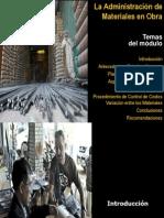 Administracion de Materiales en Obra