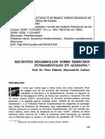 Recientes Desarrollos Sobre Derechos Fundamentales en Alemania_peter Haberle