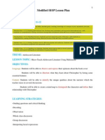 modified siop lesson plan
