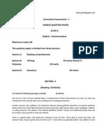 10 Sa1 English Sample Paper1