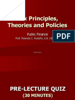 Taxation Principles and Theories