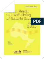 The Mental Health and Well-Being of Ontario Students, 1991-2013