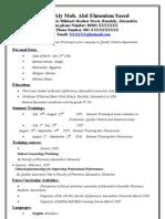 ASPSA CV Sample