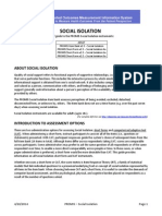 PROMIS Social Isolation Scoring Manual