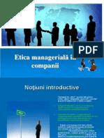 Etică Managerială În Companii