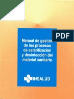 Manual de Gestion de Los Procesos de Esterilización y Desinfección Del Material Sanitario