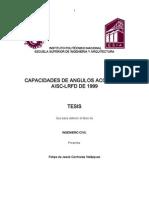 Capacidades de Angulos Acorde Al Aisc-lrfd de 1999
