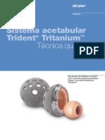 SISTEMA ACETABULAR TRIDENT+TRITANIUM
