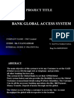 BANK GLOBAL ACCESS SYSTEM
