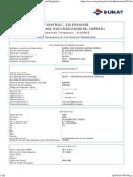 Datos de Ficha RUC- CIR(Constancia de Información Registrada)