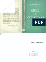 [1974] Rudolf Bultmann . Creer y Comprender. 2Vols. Madrid, Studium (Tomo 1).