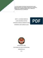 Evaluación de Los Factores de Riesgo Psicosociales Que Inciden en La Accidentalidad de Los Conductores Del Con