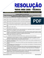 Resolucao Tecnico INSS 2008