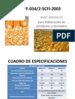 NMX-FF-034 Presentacion Maiz Amarillo