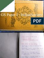 Indian Society GS Paper I ( VajiRam_ Ravi Class Notes -2013)Raz Kr