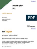 Financial Modeling for Entrepreneurs - Foresight - Taylor Davidson (1)