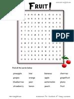 Fruit Wordsearch