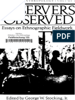 Observers Observed_ Essays on E - George W. Stocking Jr