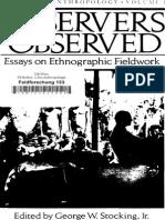 Observers Observed_ Essays on E - George W. Stocking Jr