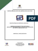 Terminos de Referencia Esterilizacion Infraestructura 2014i003