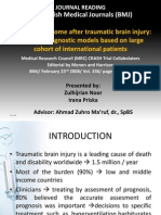 Predicting Outcome After Traumatic Brain Injury