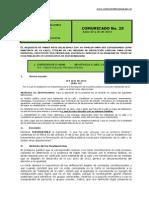 No. 25 Comunicado 25 y 26 de Junio de 2014