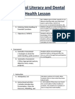 small group lesson dental health ece 3930