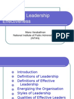 Energizing Leadership Effectiveness DSP