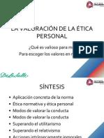 5. La Valoración de La Ética Personal