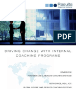 Driving Organisational Change With Internal Coaching Programs