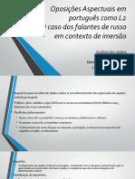 Oposições Aspectuais Em Português Como L2