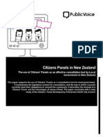 Citizens Panels in New Zealand - Full Report