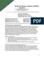 Td301 Syllabus Revised