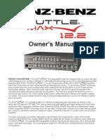 Genz Benz ShuttleMax 12.2 Manual