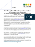 ProPRcopy Offers Copywriting Services for Automotive Professionals