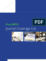APA Journal Coverage List