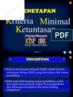 Penetapan KKM